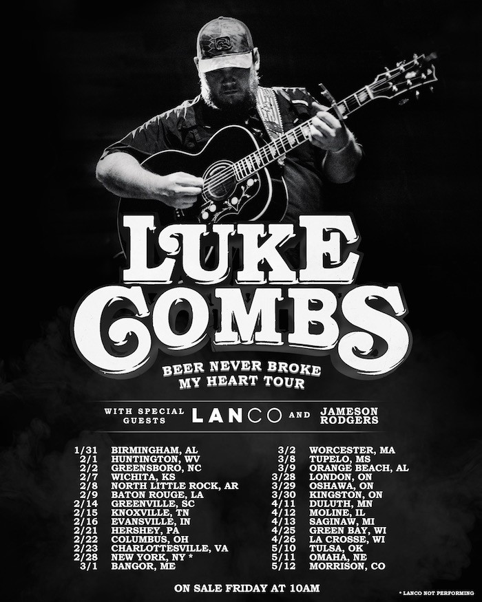Luke Combs Beer Never Broke My Heart: Luke Combs To Headline Arenas With 'Beer Never Broke My