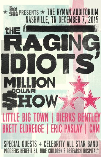 Bobby Bones The Raging Idiots Million Dollar Show Brings In Talent Bucks For St Jude
