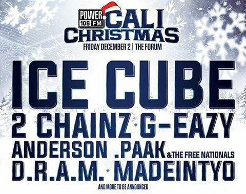 ice cube headlines the kpwr power 106los angeles cali christmas 2016 show