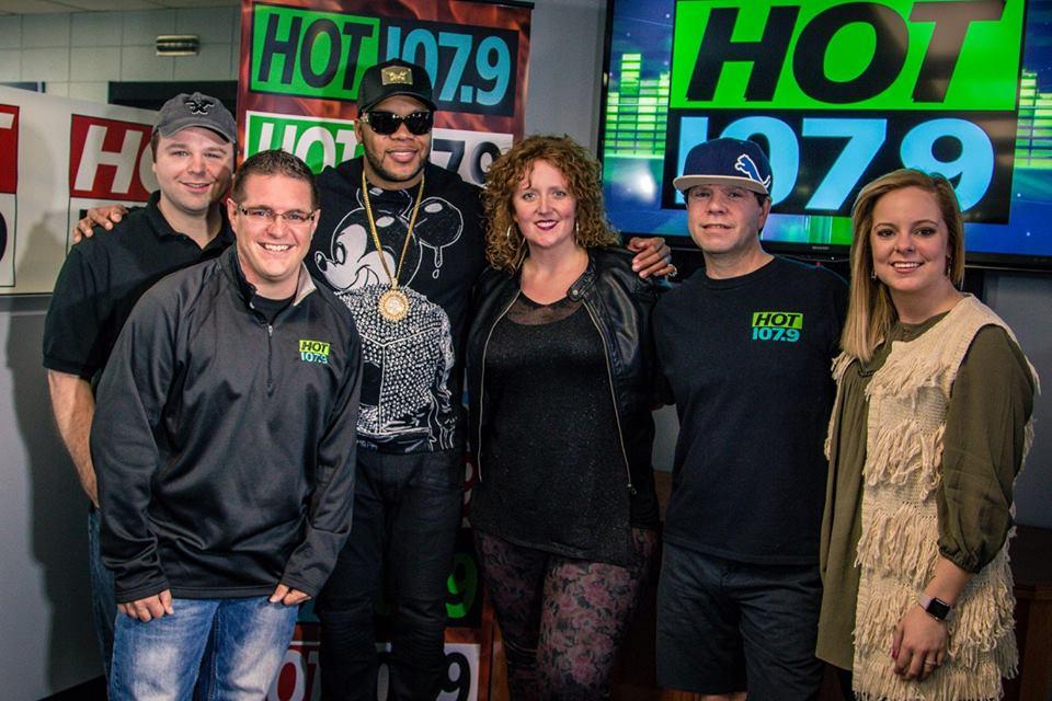 WJFX Hot 107 9 Ft Wayne Helps Flo Rida KeepTheWaterFlo