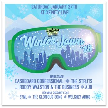 Wrff Radio 104 5 Philadelphia Presents Winter Jawn 18 Music Festival January