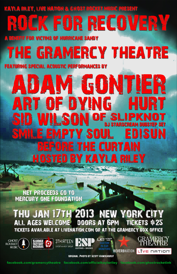 Rock For Recovery Concert at The Gramercy Theatre in New York City on January 17th